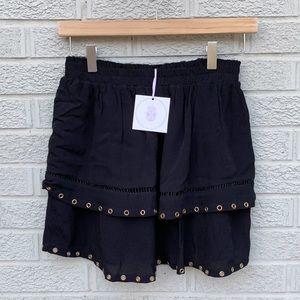 NEW Muche Muchette Joker 4 Tier Black Skirt